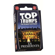 "Top Trumps U.S. Presidents - ""War"" style card game that teaches a ton of history. Other versions available including ancient egypt, greek mythology, countries of the world, wonders of the world, united states, and more. Sets run $8 each."