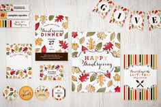 Thanksgiving Dinner Party Printables