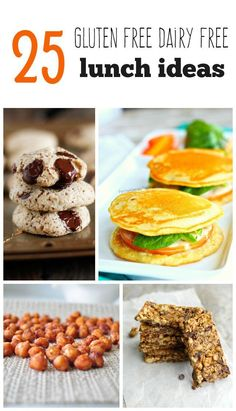 25 Delicious gluten free and dairy free recipes that are perfect for packing in lunchboxes!