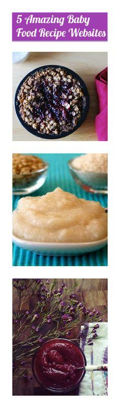 5 Amazing Baby Food Recipe Websites | OnePartSunshine.com