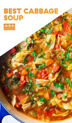 This hearty soup is a must try. Soup Appetizers Soup Appetizers dinners carb Soup Appetizers Appetizers with french onion Soup Appetizers, Easy Appetizer Recipes, Dinner Recipes, Cabbage Soup Recipes, Vegetarian Cabbage Soup, Soup With Cabbage, Cabbage Chicken Soup, Cabbage Soup Diet, Chicken Soups