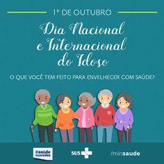 O Dia do Idoso é comemorado no Brasil em 1º de outubro. Essa data faz referência ao dia da aprovação do Estatuto do Idoso, em 2003.   No...