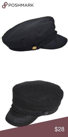 Black Wool Greek Fisherman s Hat Black Wool Greek Fisherman s Hat.  Features- Black color 545c4ade1b13