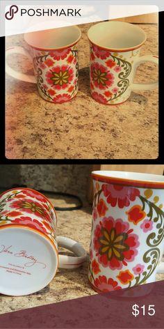 Vera Bradley coffee mugs Adorable Vera Bradley coffee mugs! Microwave and dishwasher safe. Vera Bradley Other