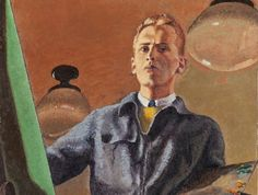 Alex Colville self-portrait (detail). Painted when he was a student at Mount Allison University. He graduated in 1942.