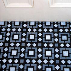 "Kasbah Floor Stencil for floors, walls, furniture and fabric. Moroccan stencil. 30x30cms 12""x12"" Floor Stencil, Stencil Fabric, Stenciled Floor, Stencil Diy, Stencil Painting, Stencils, Painted Floorboards, Painted Floors, Diy Flooring"