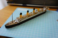 This ship paper model is a simple RMS Titanic, a British passenger liner that sank in the North Atlantic Ocean on 15April 1912, the papercraft is created