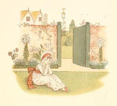 Little Ann, a book by Kate Greenaway 1880 - Plate 20