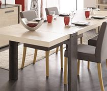 table de salle manger couleur pin et effet bton contemporaine atelier sofamobili 94