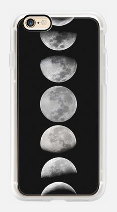 Casetify iPhone 7 Case and Other iPhone Covers - Moon phases. Black and white case by MARTA OLGA KLARA | #Casetify