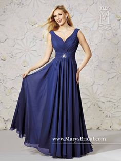 4139d8e8 Chiffon Gown With Gathered Skirt Bridesmaid Dress Styles, Bridal Dresses,  Prom Dresses, Formal
