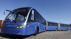 Jövő, közlekedés, koncepció, busz