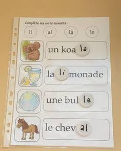 Atelier d'encodage avec des bouchons French Teaching Resources, Teaching French, French Immersion, Learning Letters, Learn French, Montessori, Literacy, Alphabet, Kindergarten