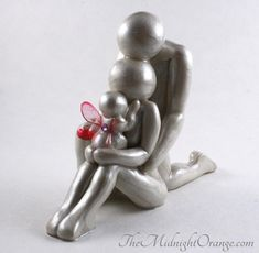 Mother, Father, and Angel Baby hand made sculpture - child loss remembrance keepake gift for miscarriage or still birth- made to order