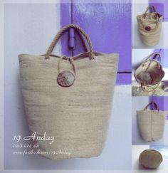 Jute bags  www.facebook.com/RongXuBeNho.Craft.Decor