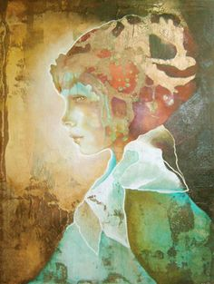 Kai Fine Art is an art website, shows painting and illustration works all over the world. Gcse Art Sketchbook, Watercolor Portraits, Petunias, Figurative Art, Art Images, Collage Art, Modern Art, Digital Art, Fantasy