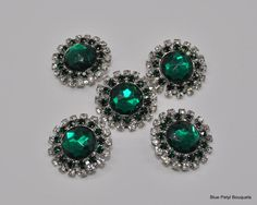 5Pcs Big Rhinestone Button with Shank Good for by TheBrightShop, $10.00