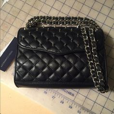 Black leather handbag with studs Amazing Rebecca Monkoff cross body bag. Quilted leather with studs. Rebecca Minkoff Bags Crossbody Bags