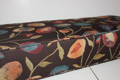 "Custom Made Window Box Bench Cushions - Measuring 6"" thick - Using Versailles Mosai Upholstery Fabric - Price is approximation only"