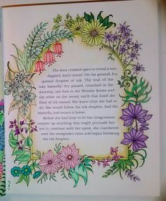 Ivy And The Inky Butterfly Joanna Basford Adult Coloring Prismacolor Premiere