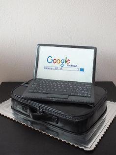 bag with laptop - Cake by Janeta Kullová