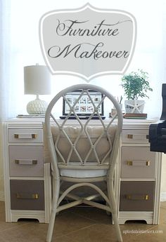 Love this ombre-style painted desk.  Read comments for how many coats of primer, paint, etc. it took