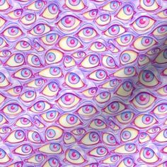 Wall of Eyes in Purple custom fabric by spookishdelight for sale on Spoonflower Bedroom Wall Collage, Photo Wall Collage, Picture Wall, Violet Aesthetic, Lavender Aesthetic, Purple Wall Art, Purple Walls, Trippy Wallpaper, Plum Wallpaper