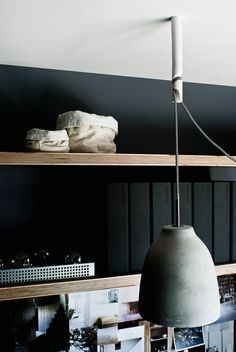 Clean way to hang a pendant light when you can really move it. Great for rental units!
