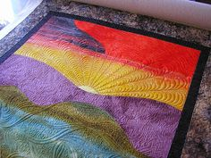 Creative Quilting by Debbie Stanton: More Rolling Landscape