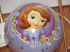 "New Disney Tin Fillable Ball Sofia the First  Christmas Ornament 2.5"""