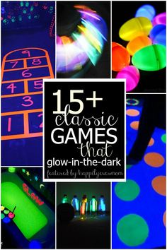 Remember those games that you grew up playing?? Here they are with a glow in the dark twist! So fun!
