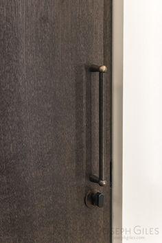 Joseph Giles bespoke door pulls in dark bronze and faux shagreen Furniture Handles, Door Furniture, Furniture Hardware, Door Pulls, Door Knobs, Door Handles, Pull Handles, Bespoke Design, Modern Design
