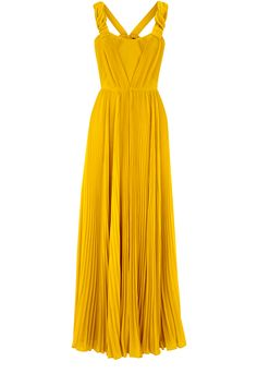 Adore the golden marigold colour. Ethereal Pleat Maxi Dress from Oasis