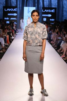 The ramp is witnessing Ilk's twist on use of fabrics and took intricate detailing to a different level with florals at #LakmeFashionWeek #SummerResort2015