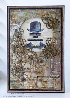 That's Life: Like Clockwork... Created for Simon Says Stamp Monday Challenge Blog using products from Tim Holtz