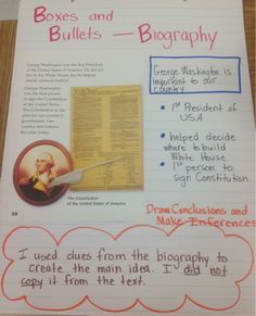 key features of writing a biography middle school