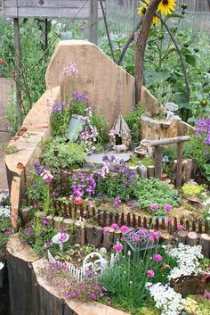 """Fairy garden  love the """"natural"""" gardens... they look like the fairies made them for themselves!"""