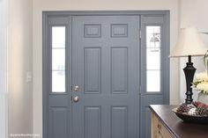 painted blue gray front door