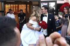 Happy married life to this wonderful and brilliant bride Izabel Andrijanic and Real Madrid C.F. footballer player, winner of the Champion's League, Mateo Kovačić. Enjoy your beautiful and holy matrimony. By Antonio Riva Milano.
