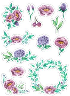 Скрапбукинг, рукоделие | VK Free Stickers, Printable Stickers, Laptop Stickers, Planner Stickers, Watercolor Stickers, Diy And Crafts, Paper Crafts, 3d Sheets, Planners
