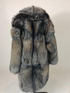 860316095d7 Luxury gift  Mens Full Length Cross Fox Fur Coat Fur jacket   Wedding
