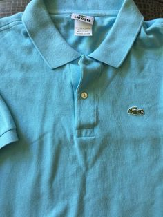Men LACOSTE Blue 7 Polo Shirt  S/S #Lacoste #PoloRugby