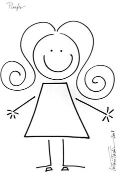 Stick figure coloring pages family Pencil Art Drawings, Doodle Drawings, Doodle Art, Cute Drawings, Easy Drawings For Kids, Drawing For Kids, Art For Kids, Drawing Lessons, Art Lessons