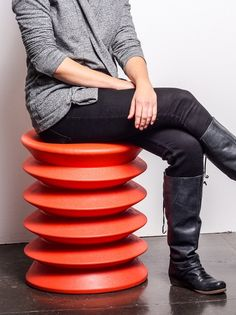 Accordion Chair - Allows you to rock gently in any direction in order to build core strength and flexibility.