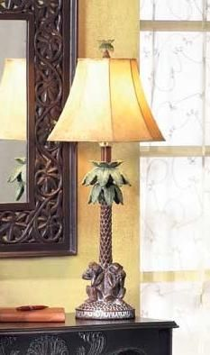 monkey lamps for bedroom. British colonial