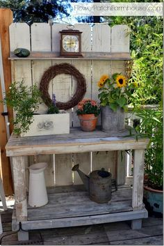 Garden ~ Potting Bench