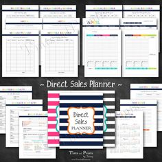 "Direct Sales Planner Printable PDF - 8.5"" x 11"" A4 Letter Size - instant download at www.TintsAndPrints.etsy.com"