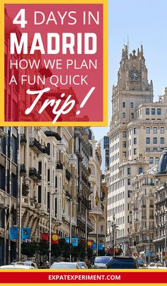 Visiting a big city like Madrid and managing to experience everything you want to during your stay is no easy task. When we visit large cities we like to do an assortment of things, check out some popular attractions, do things that are lesser-known for tourists and have a local experience which usually includes food. We have four days to explore Madrid! Here's how we plan to do all kinds of things we love and fit it all into our short time in Madrid, Spain.