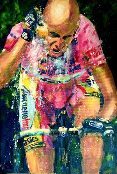 "acrylic on canvas 36x24"" sold Pantani!"