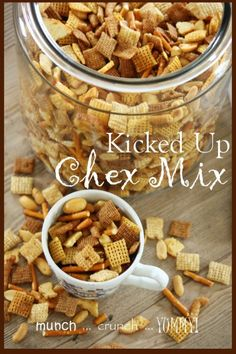 One of my favorite snacks to have on hand when StoneGable is full of family or company is homemade Chex Mix. It's great munchy food… and has an even more intense flavor when it is the kicked up version!!!   It differs slightly from the original recipe but it sure makes a difference! I …